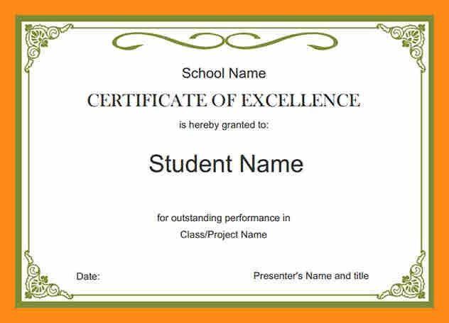 9+ school certificate format | actor resumed