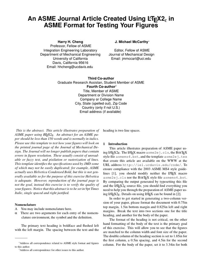 LaTeX Templates » Academic Journals