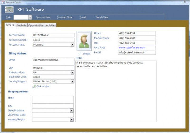 Download Crm Access Database Template Free | rabitah.net