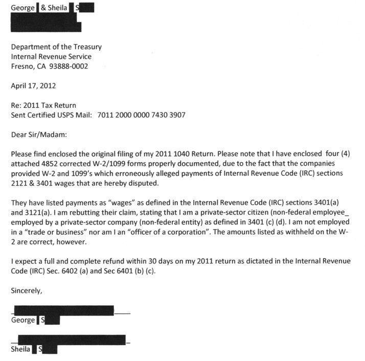 Tax Return Cover Letter