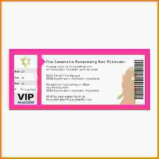 5 concert ticket template - LetterHead Template Sample