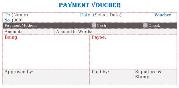 voucher template microsoft word