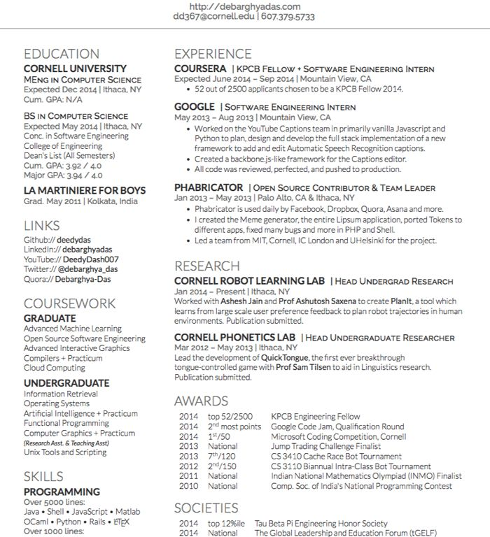 Excellent Design Ideas Latex Resume Templates 4 LaTeX Curricula ...