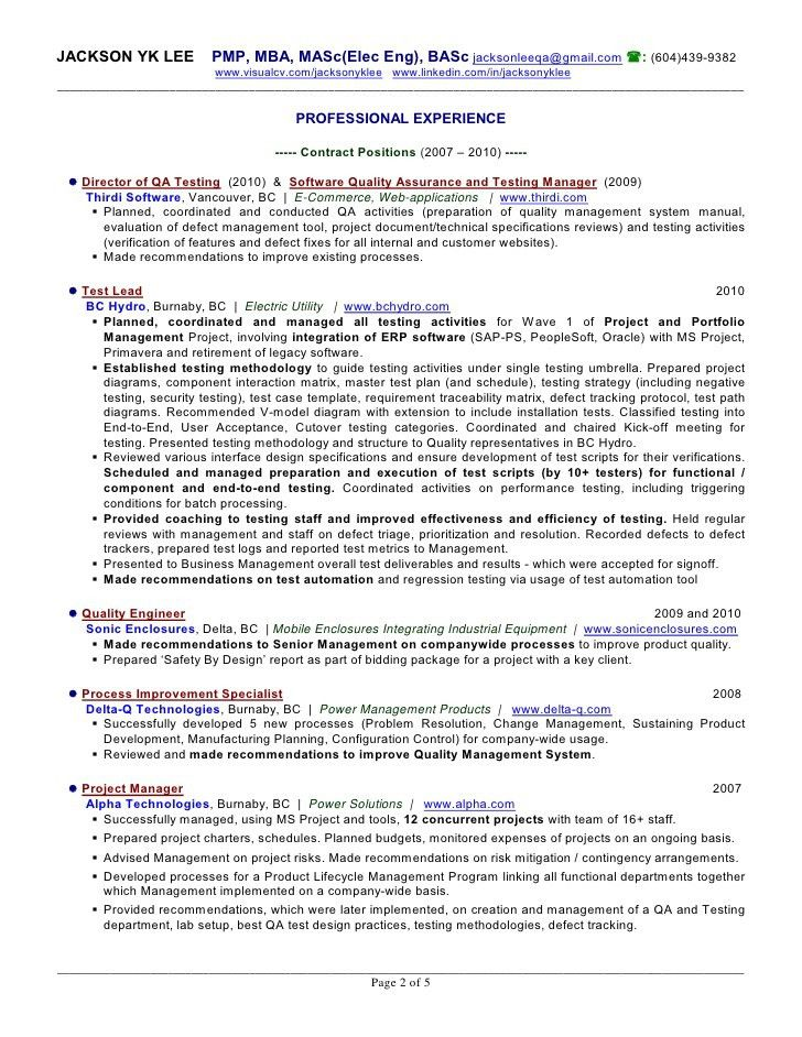 software testing sample resume testing resume sample mobile