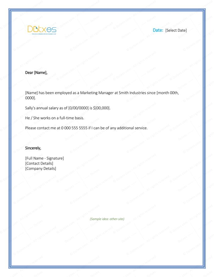 Employment Verification Letter - 4+ Printable Formats & Samples