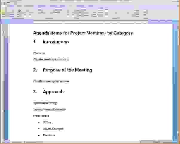 9 How To Create An AgendaAgenda Template Sample | Agenda Template ...