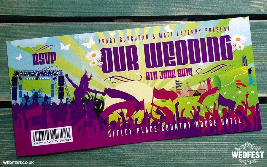 Festival Tickets Wedding Invites   WEDFEST