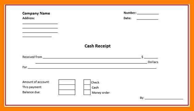 7+ cash receipt template word doc | fancy-resume