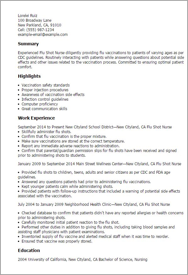 sample oncology nurse resume
