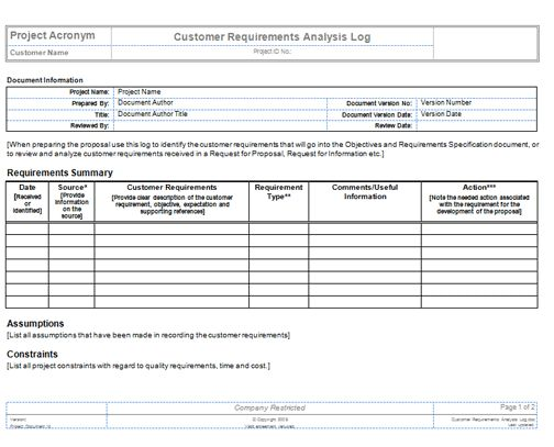 Project Requirement Templates - Project News Today