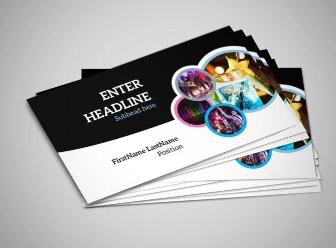 Club Party Business Card Template | MyCreativeShop