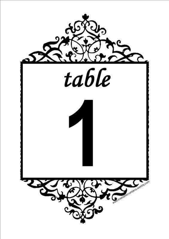 Free Table Numbers - Free DIY Printable Wedding Reception Table ...