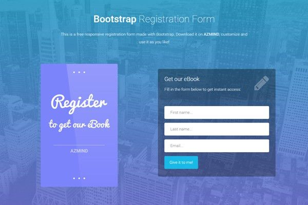 Bootstrap Registration Forms: 3 Free Responsive Templates | AZMIND