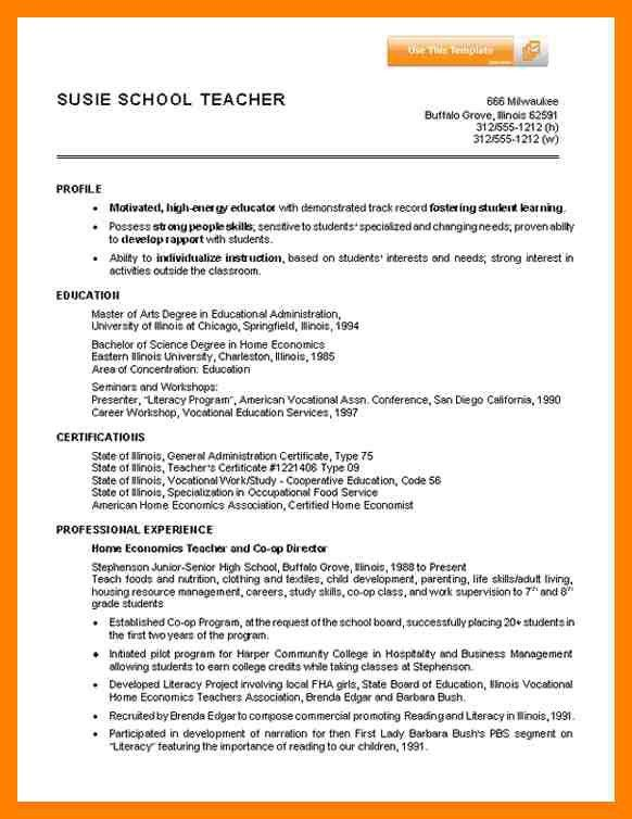 6+ How To Write Resume For Teaching Job | Emt Resume