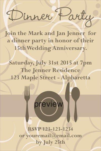 Dinner Party Invitation Wording | christmanista.com