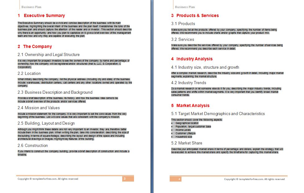 Free Business Plan Template | Free Business Template