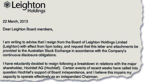 Leighton directors quit board