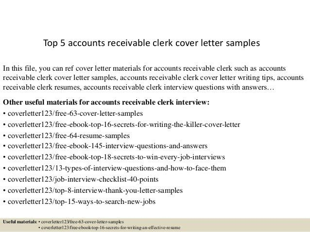 accounts receivable analyst cover letter