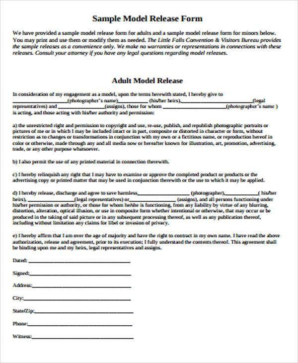 Sample Model Release Form in PDF - 9+ Examples in PDF