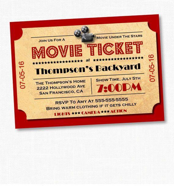 Best 25+ Movie night invitations ideas on Pinterest | Outdoor ...