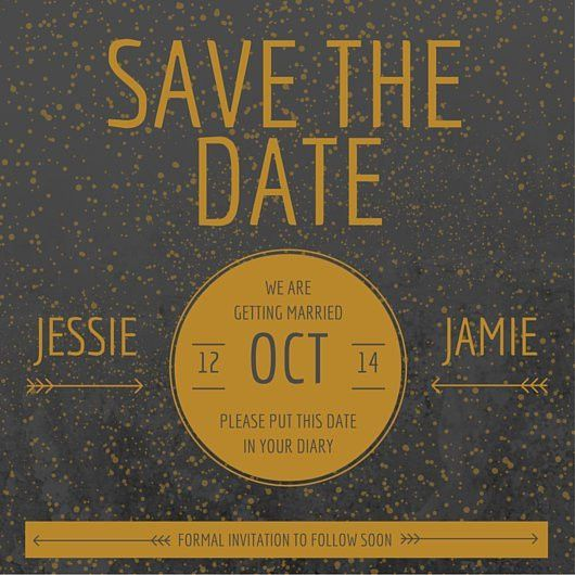 Modern Gold Save the Date - Templates by Canva