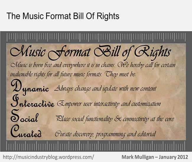 Music Format Bill of Rights | Music Industry Blog