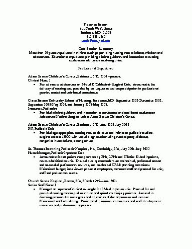 Pediatric Nurse Resume Objective - http://www.resumecareer.info ...
