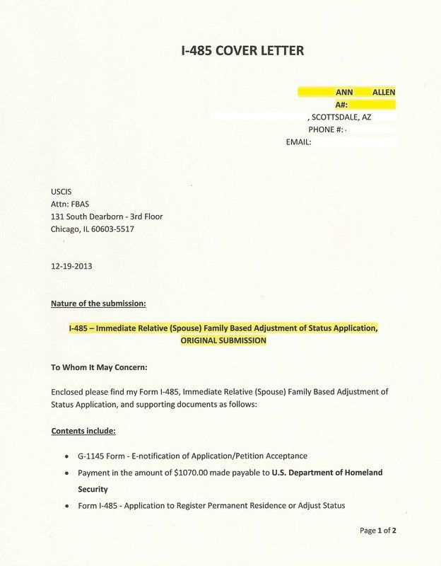 tax amendment letter sample i 485 cover letter example spuspr28 ...