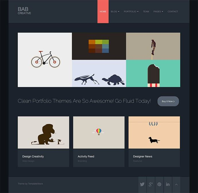 45 Best Bootstrap Portfolio Website Templates | Web & Graphic ...