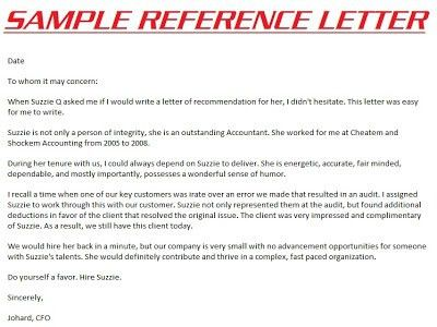 Personal Recommendation Letter. Letter Of Reference Personal ...