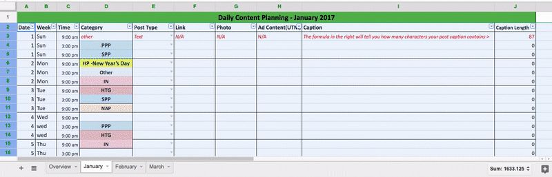 Social Media Posting Plan - The Ultimate Daily Template - Free ...