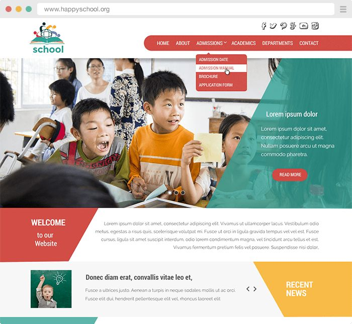 Child Care Website Templates — Pudink