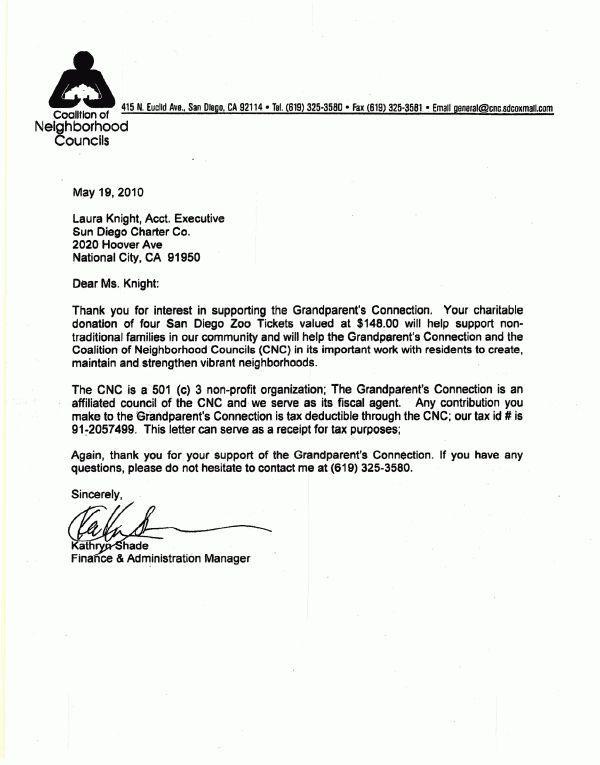 non profit thank you letter