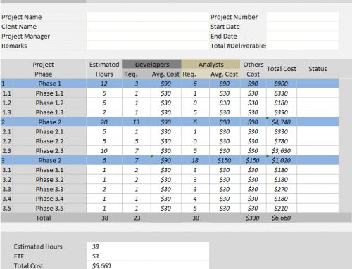 Project Plan Template Excel - Free Download