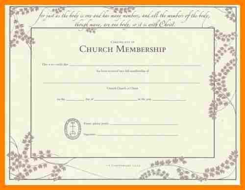 5+ church membership certificate template | job resumed