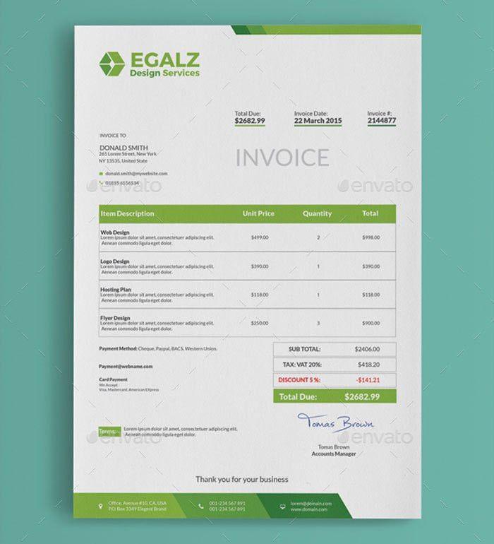 Download Cool Invoice Template Free | rabitah.net