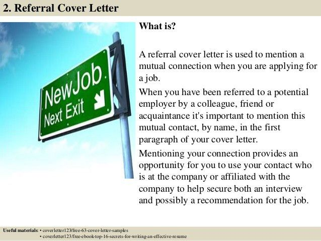 cold call email cover letter subject line. referral cover letter ...
