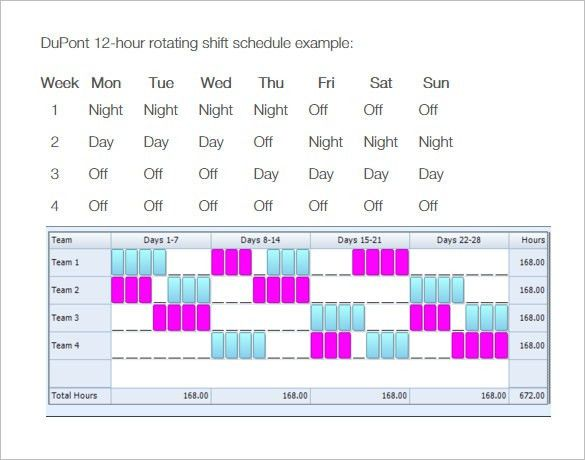 Rotating/Rotation Shift Schedule Template – 10+ Free Word, Excel ...