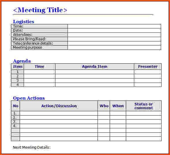 7+ meeting minutes template word | Survey Template Words