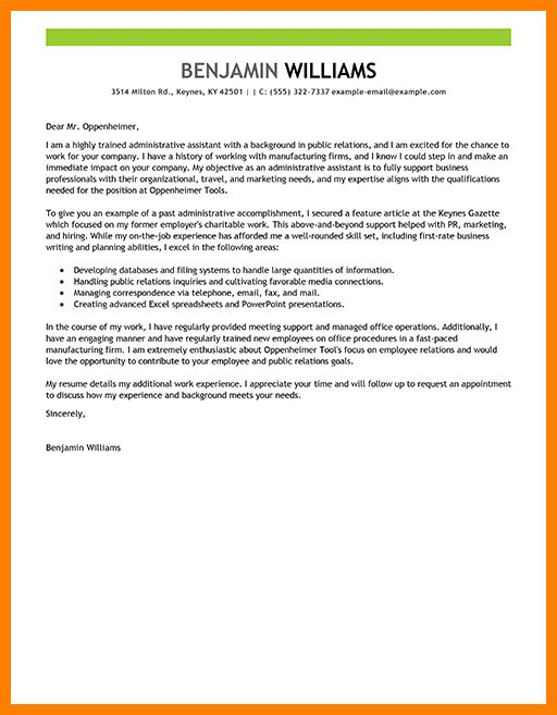 7+ administrative cover letter examples | assembly resume