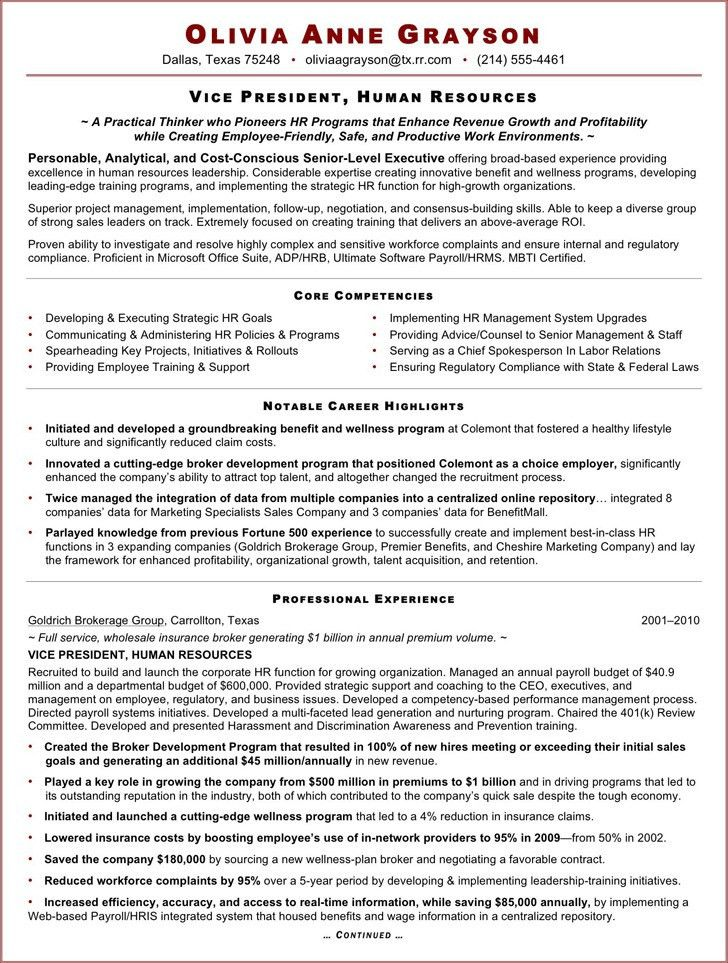 Executive Resume Template | Download Free & Premium Templates ...