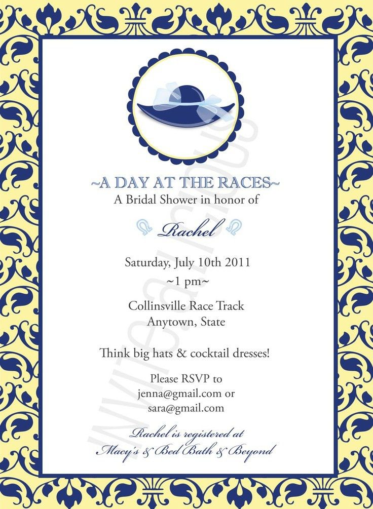 Kentucky Derby Bridal Shower Invitations | southernsoulblog.com