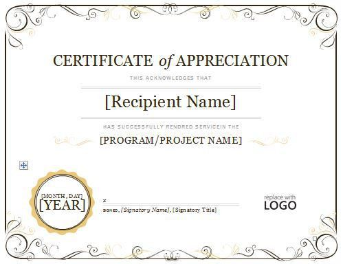 Certificate of Appreciation 08 | Projects to Try | Pinterest ...