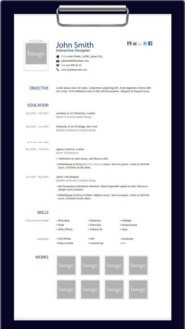 sheldon. 50 best html resume cv vcard templates 2016 ...