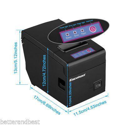 USB 58mm Thermal Dot Receipt Printer Ticket Maker Machine System ...