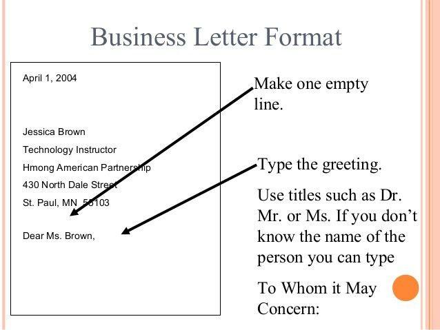 Letter writing (Communication Skills)