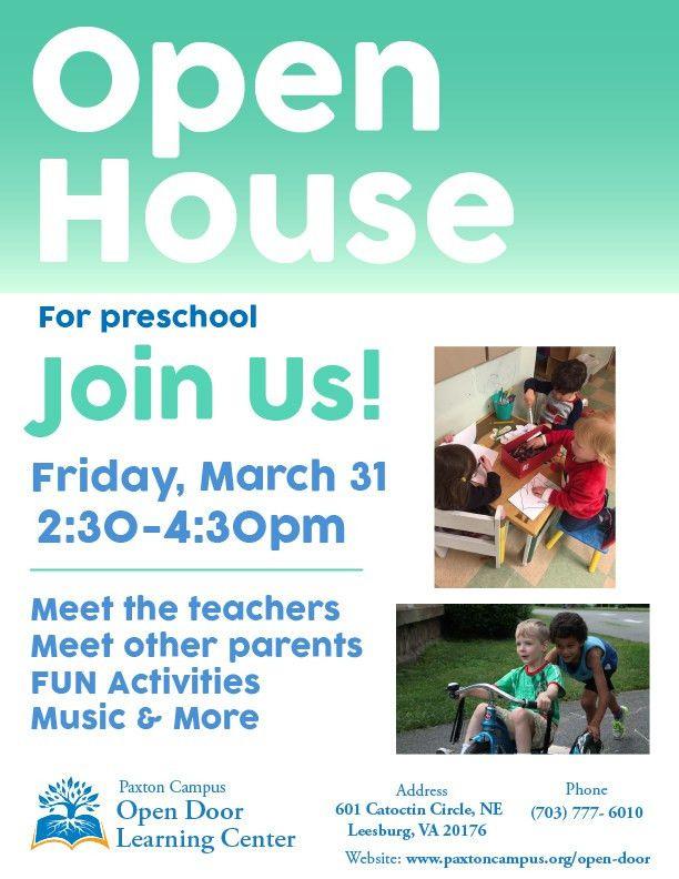 Open Door Preschool | The Arc of Loudoun at Paxton Campus