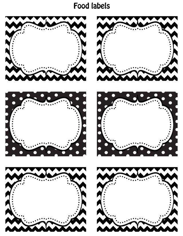FREE Black & White Printable Labels | Printable labels, Free black ...
