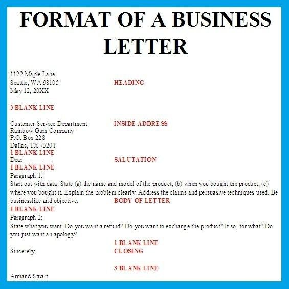 Business Letter Spacing | Template Design