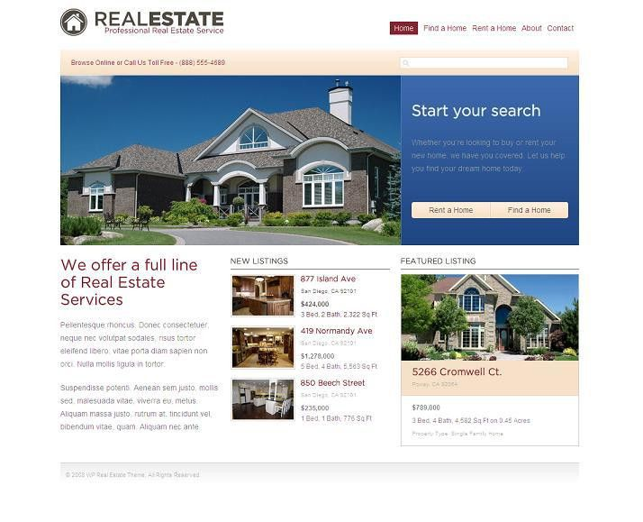 The Best Free & Premium Real Estate Website Templates | Evohosting